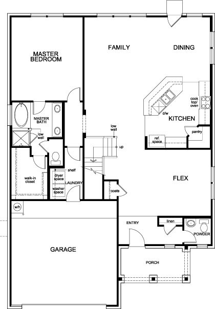 New Homes in Allen, TX - Plan 2547, First Floor