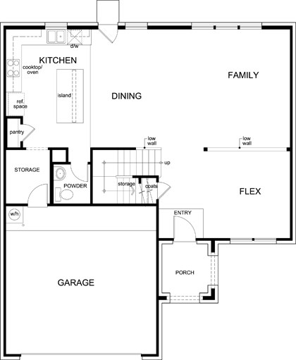 New Homes in Celina, TX - Plan 2535, First Floor