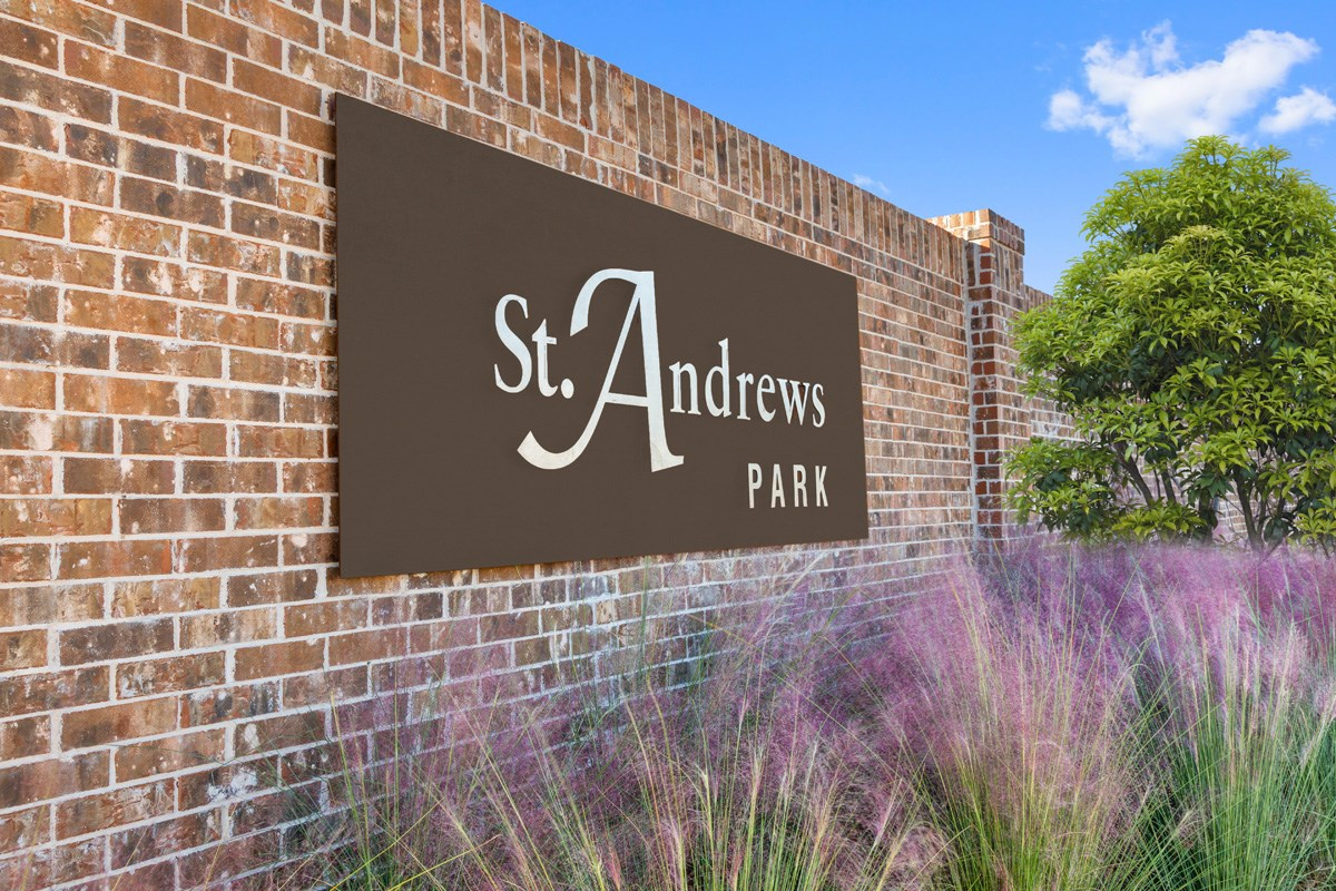 New Homes in Allen, TX - St. Andrews Park Entry Monument