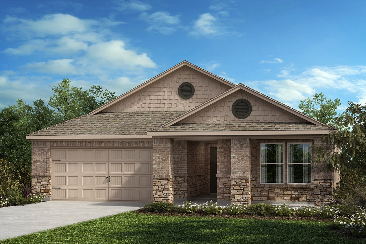 New Homes in Fort Worth, TX - Watersbend Plan 1709 Elevation C