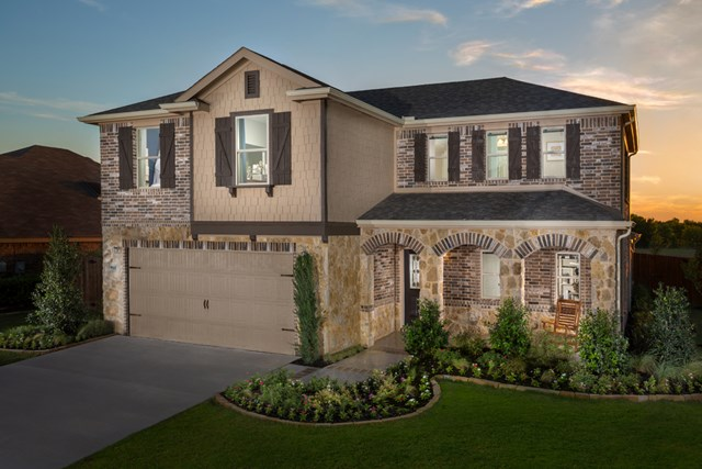 KB model home in Fort Worth, TX