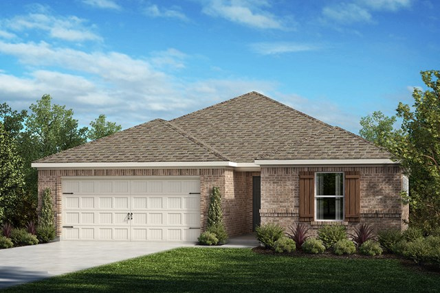 New Homes in Aubrey, TX - Plan 1709 Elevation A