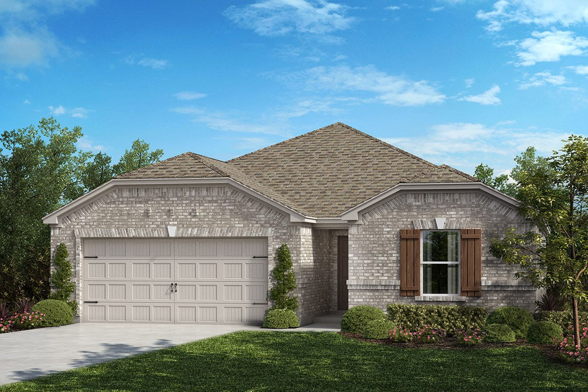 Plan 1709 new home floor plan in winn ridge by kb home for Dallas house plans