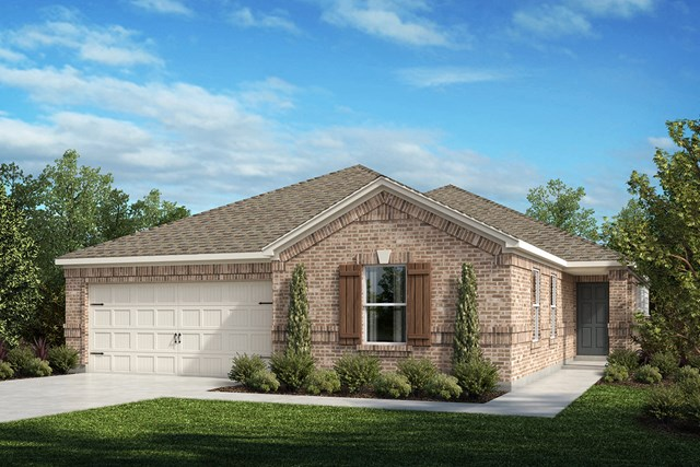 New Homes in Aubrey, TX - Plan 2085 Elevation A