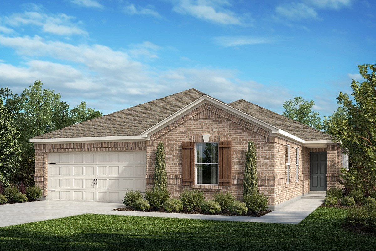 New Homes in Fort Worth, TX - Watersbend Plan 2085 Elevation A