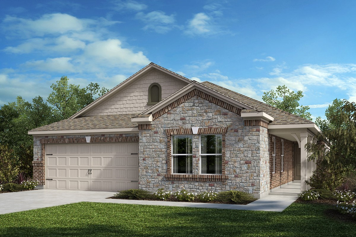New Homes in Fort Worth, TX - Copper Creek Plan 2085 Elevation C
