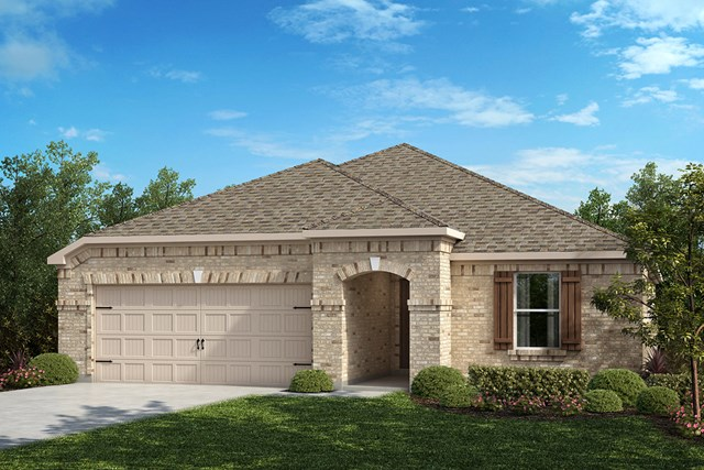 New Homes in Aubrey, TX - Plan 2141 Elevation B