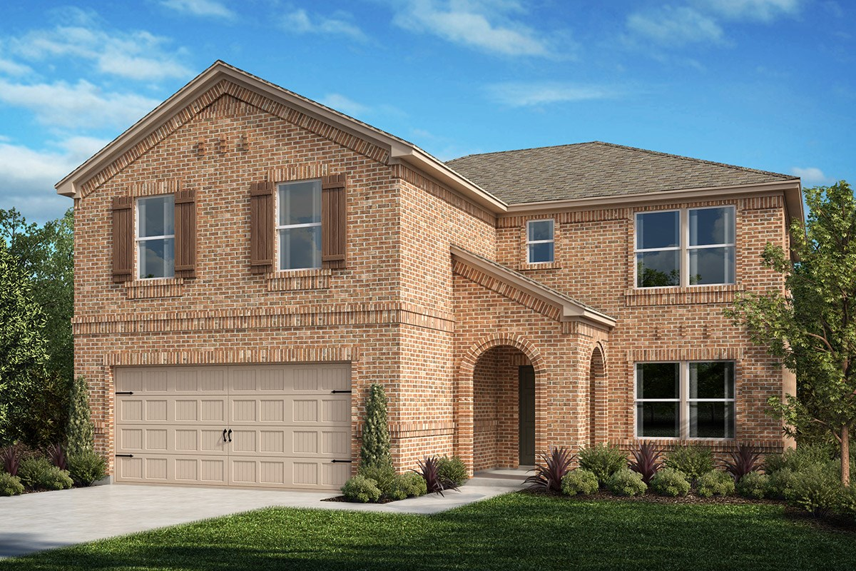 New Homes in Fort Worth, TX - Watersbend Plan 2535 Elevation A