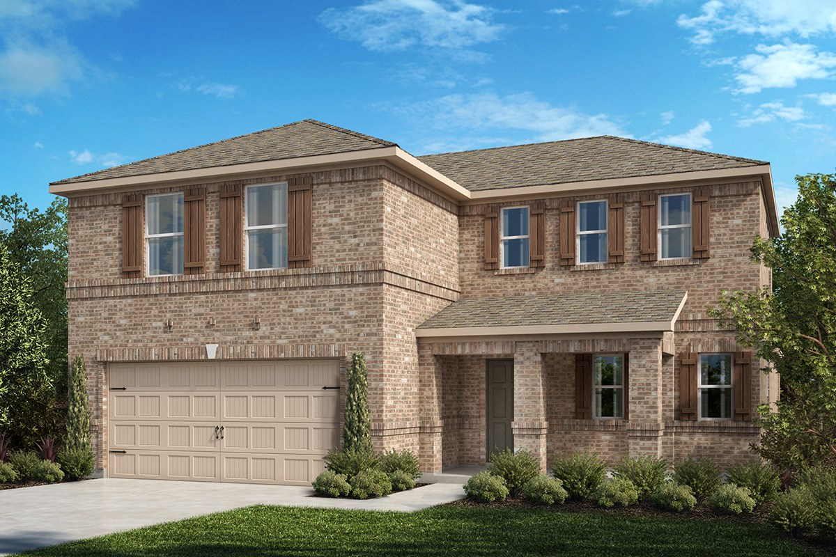 New Homes in Fort Worth, TX - Copper Creek Plan 2547 Elevation A