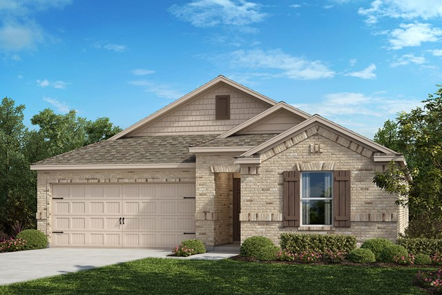 New Homes in Aubrey, TX - Elevation B