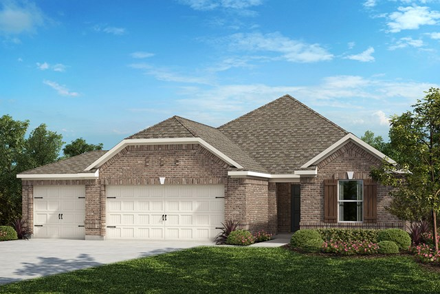 New Homes in Fort Worth, TX - Elevation B - 3-Car Garage Option