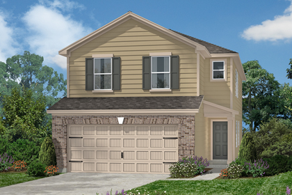 Plan 2080 at cedar brook in houston tx kb home for Home elevation houston