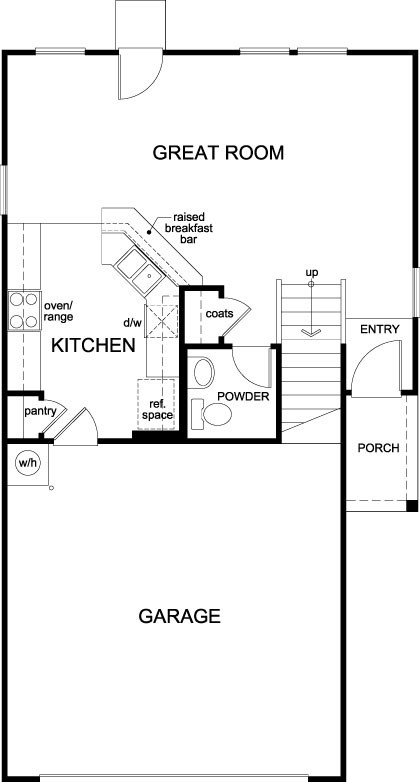 New Homes in Houston, TX - Plan 1373, First Floor