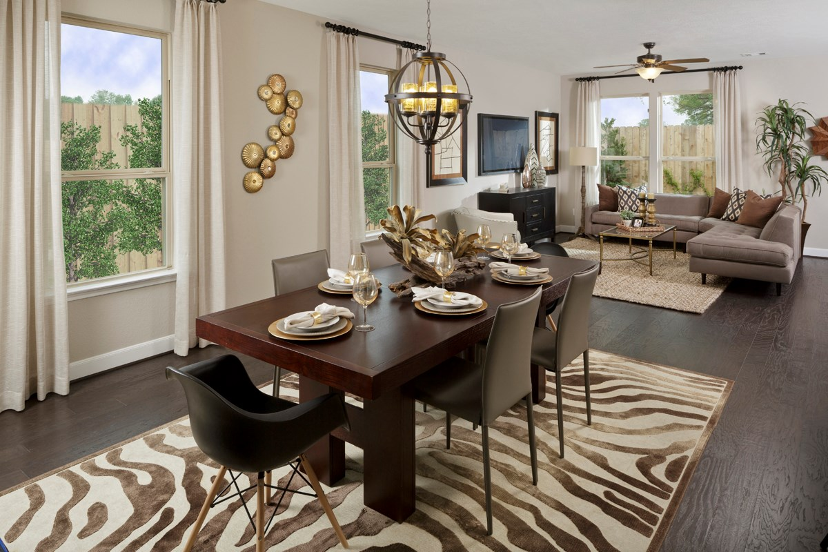 New Homes in Houston, TX - Cedar Brook Plan 2080 Dining Room as modeled at Hollister Commons