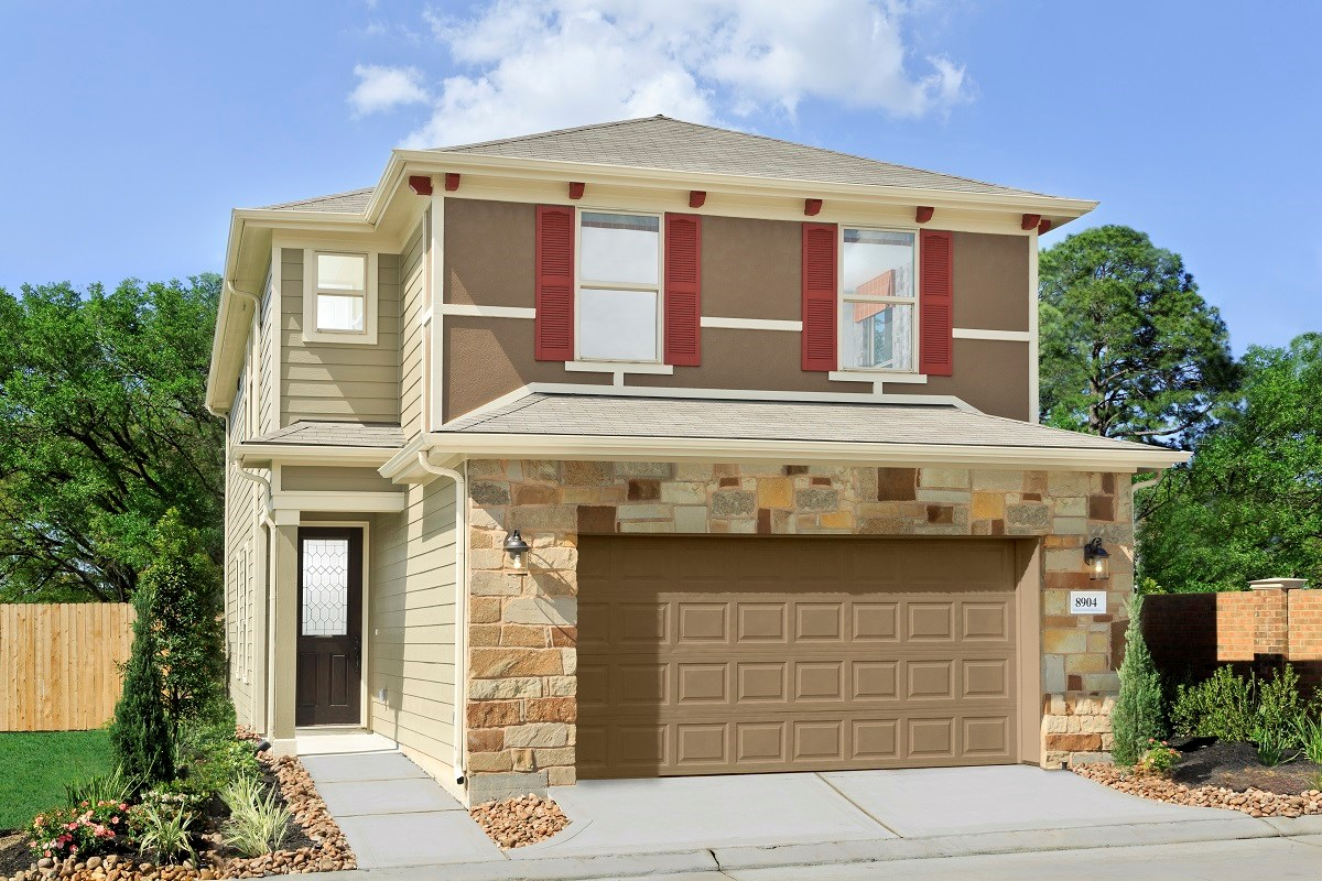 New Homes in Houston, TX - Cedar Brook Plan 2080 as modeled at Hollister Commons
