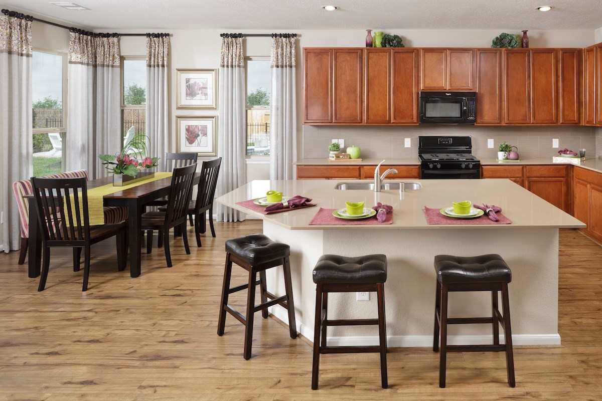 New Homes in Houston, TX - Westview Landing Plan 2646 Kitchen as modeled at Villas at Copperwood