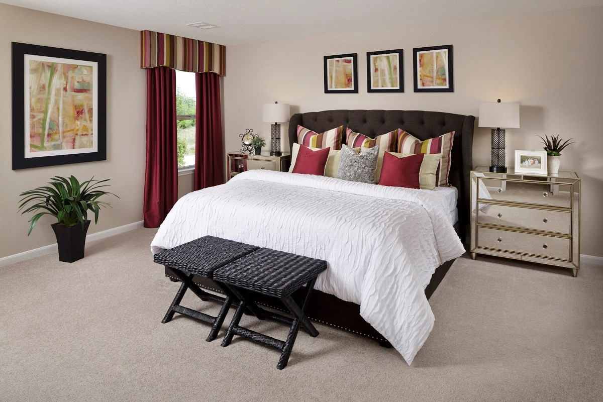 New Homes in Houston, TX - Sommerall Square Plan 2646 Master Bedroom