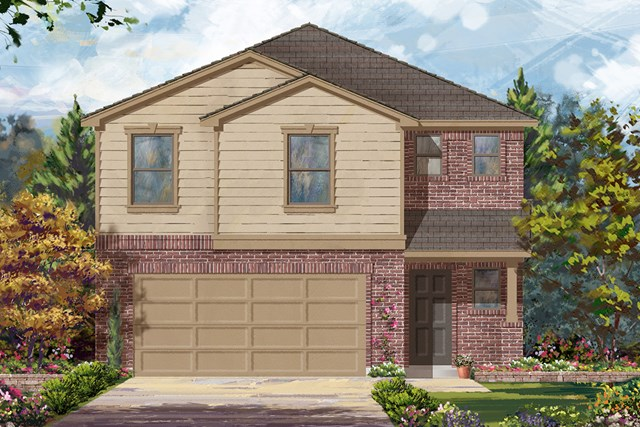 New Homes in Houston, TX - Plan 1864 Elevation B