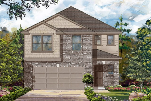 New Homes in Houston, TX - Plan 1864 Elevation D
