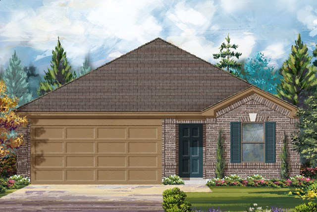New Homes in Conroe, TX - Elevation A