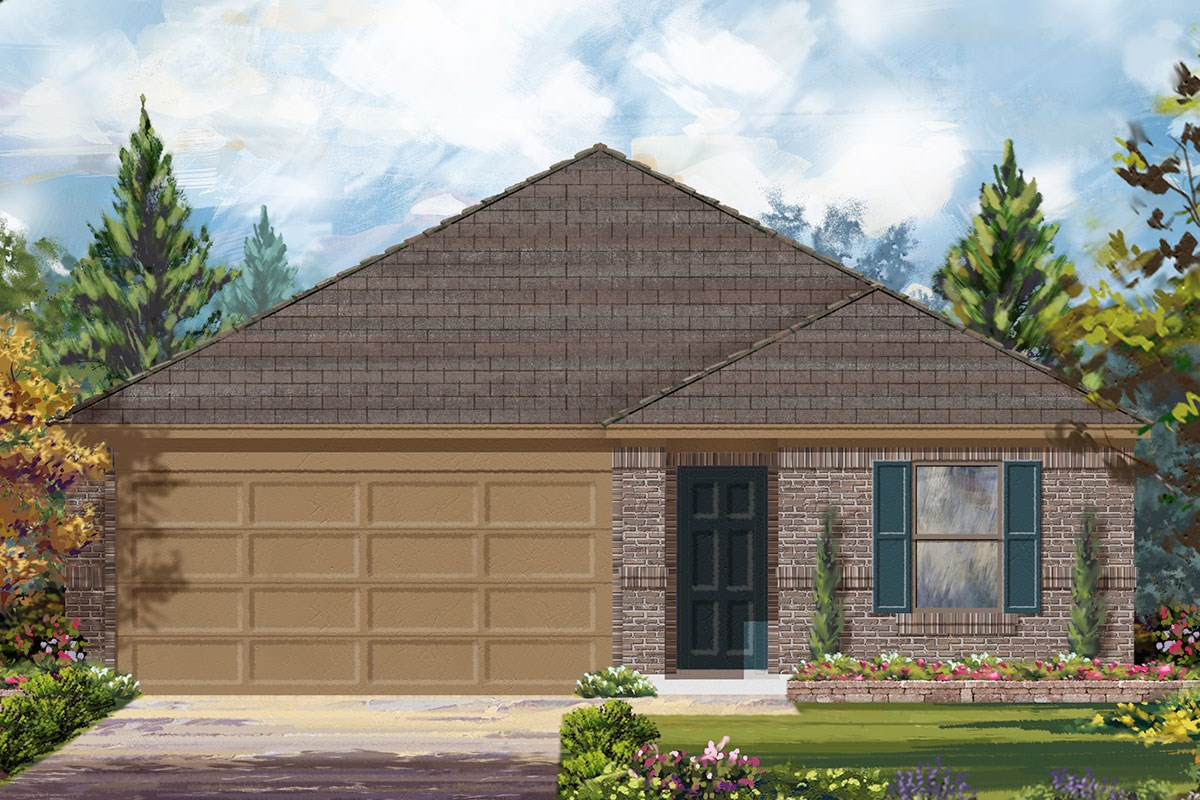 New Homes in Houston, TX - Cypress Creek Landing Plan 1889 Modeled