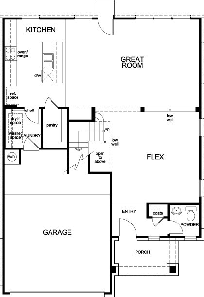 New Homes in Porter, TX - Plan 2372, First Floor