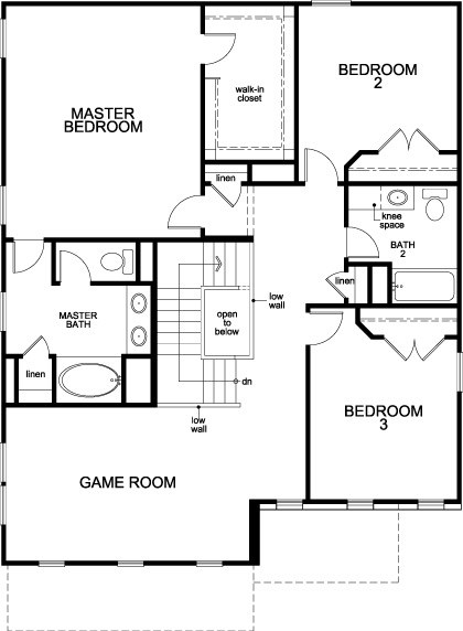 New Homes in Houston, TX - Plan 2372, Second Floor