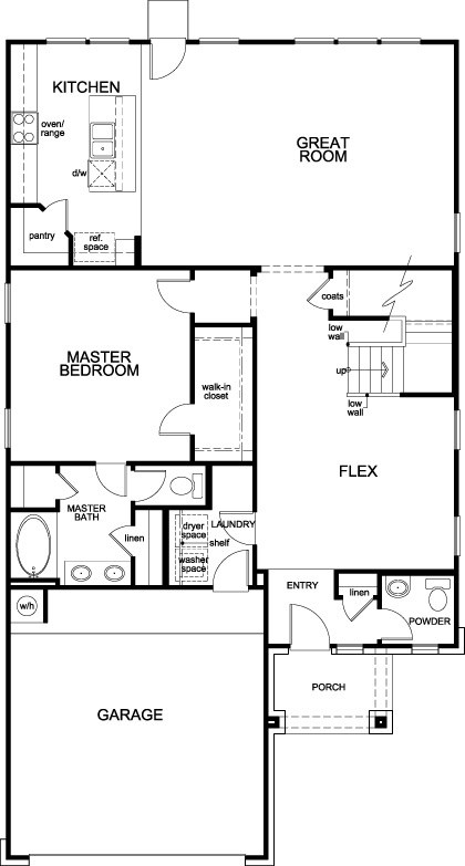 New Homes in Conroe, TX - Plan 2596, First Floor