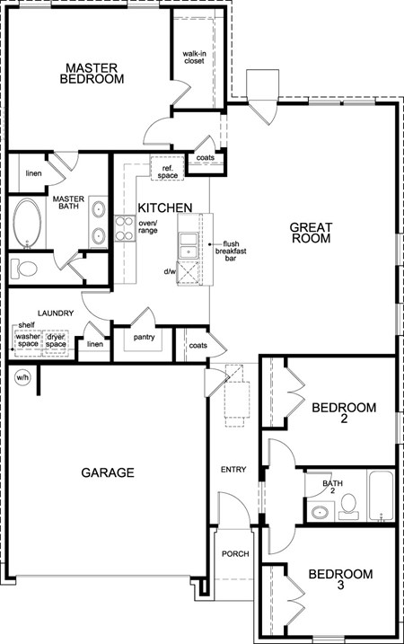 New Homes in Katy, TX - Plan 1491, First Floor