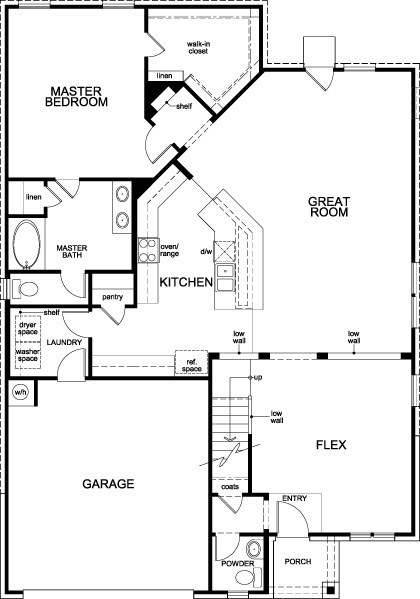 New Homes in Magnolia, TX - Plan 2590, First Floor
