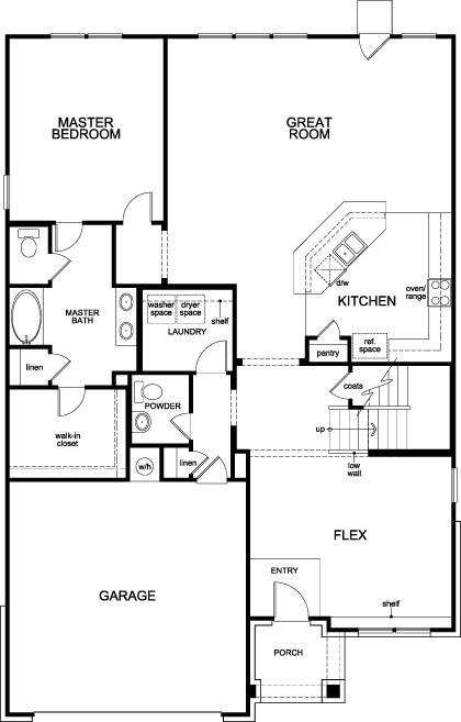 New Homes in Pearland, TX - Plan 2715, First Floor