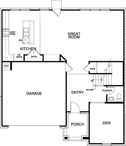 New Homes in Richmond, TX - Plan 2478, First Floor