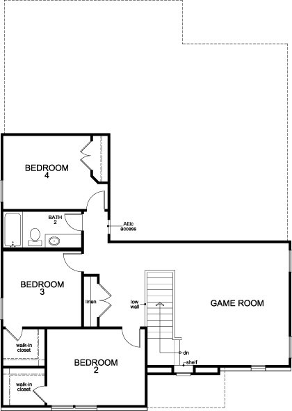 New Homes in Richmond, TX - Plan 2590, Second Floor