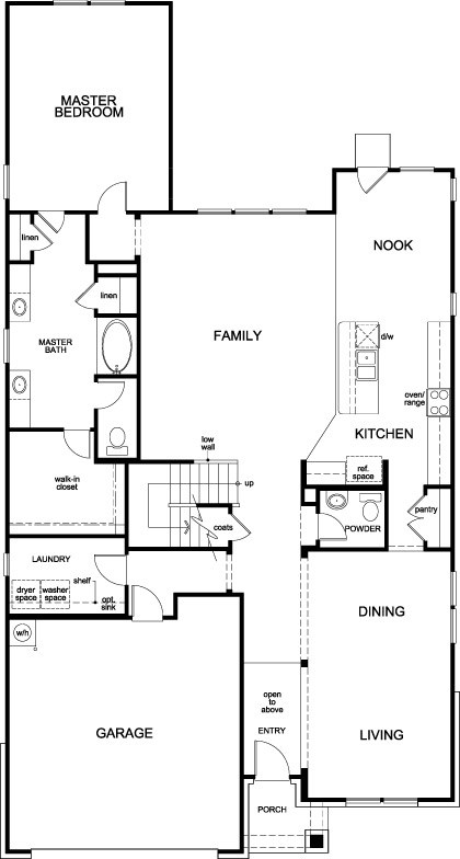 New Homes in Houston, TX - Plan 3028, First Floor
