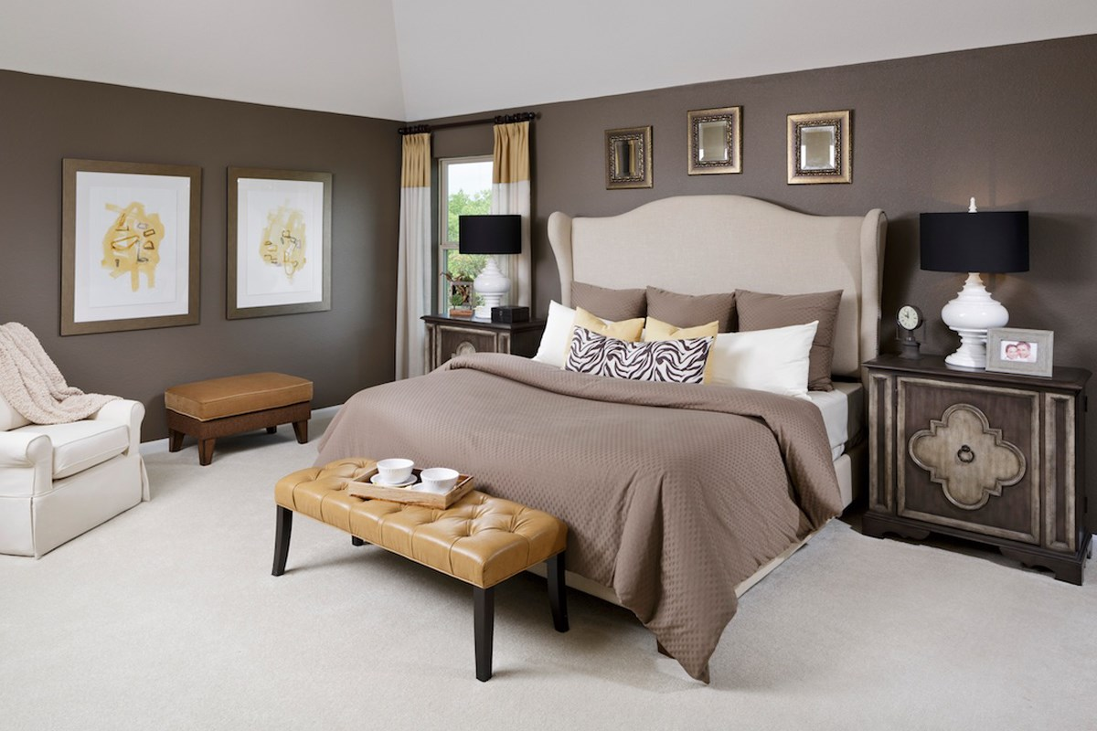 New Homes in Katy, TX - Katy Manor Preserve Plan 2478 Master Bedroom