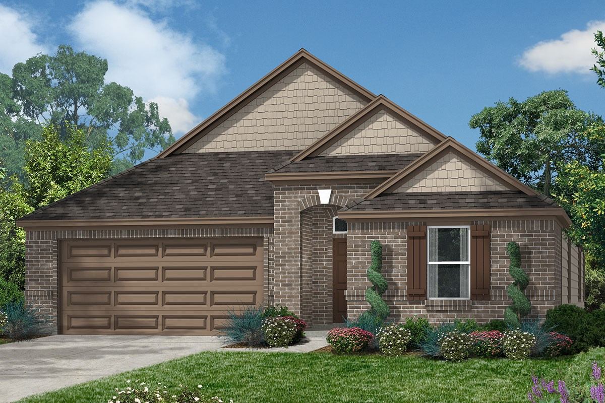 New Homes in Houston, TX - Lakewood Pines Preserve Plan 2130 - Elevation F
