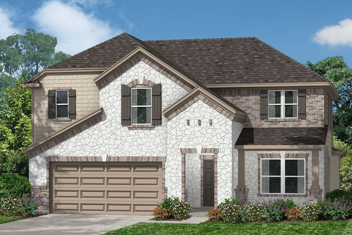 New Homes in Houston, TX - Lakewood Pines Preserve Plan 2715 - Elevation K