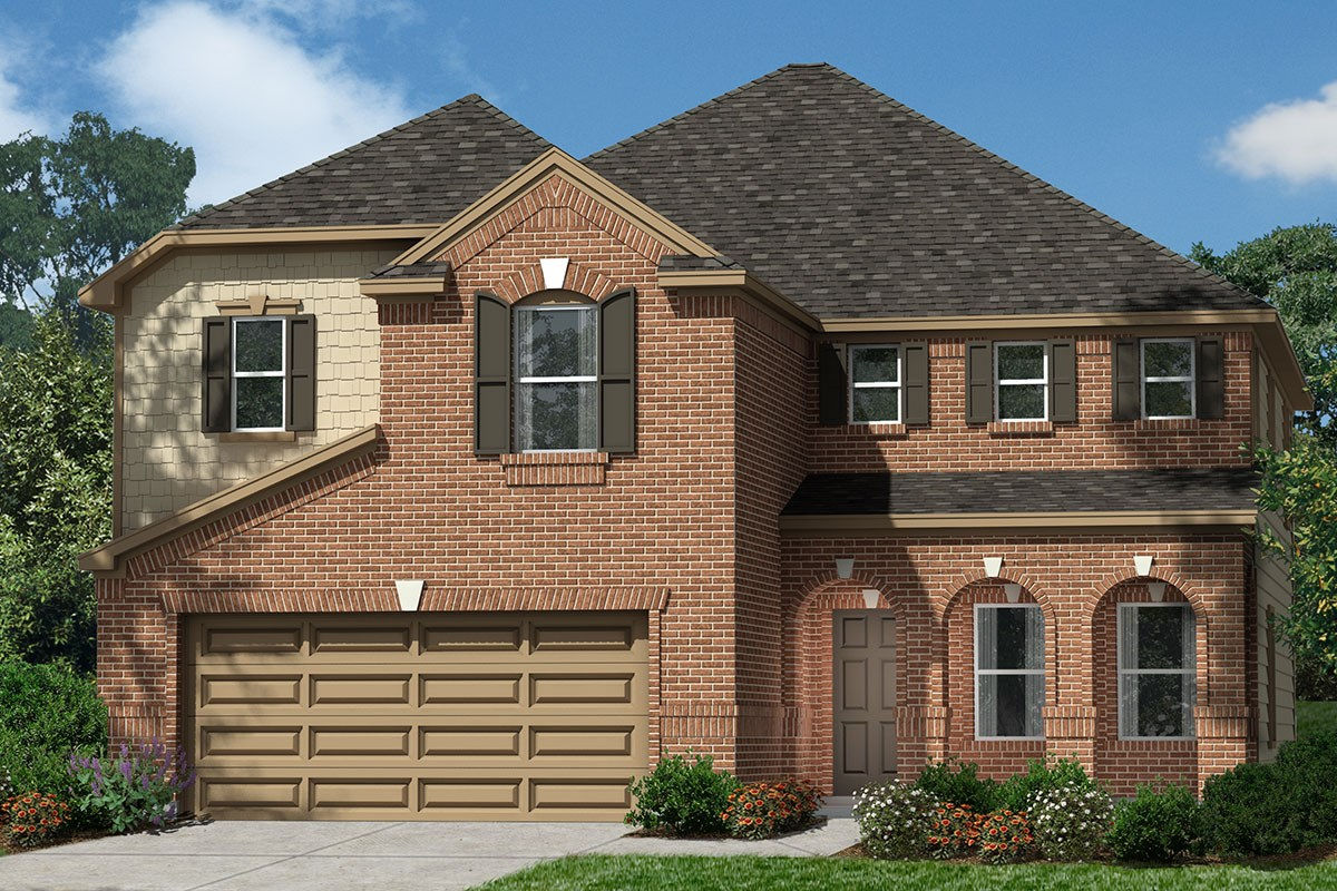 New Homes in Houston, TX - Lakewood Pines Preserve Plan 2936 - Elevation F