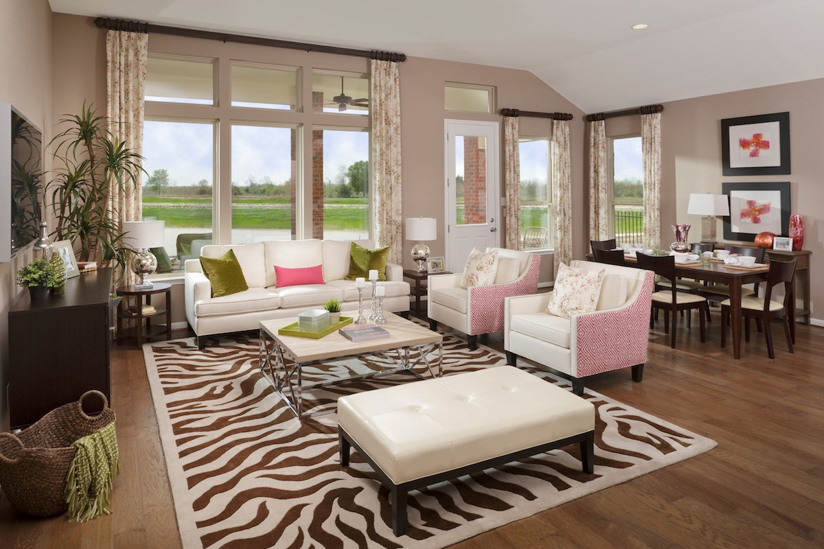 New Homes in Magnolia, TX - Cimarron Creek Preserve Plan 2398 Great Room