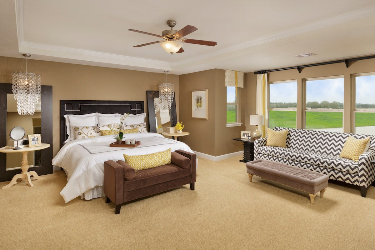 New Homes in Magnolia, TX - Cimarron Creek Preserve Plan 2936 Master Bedroom