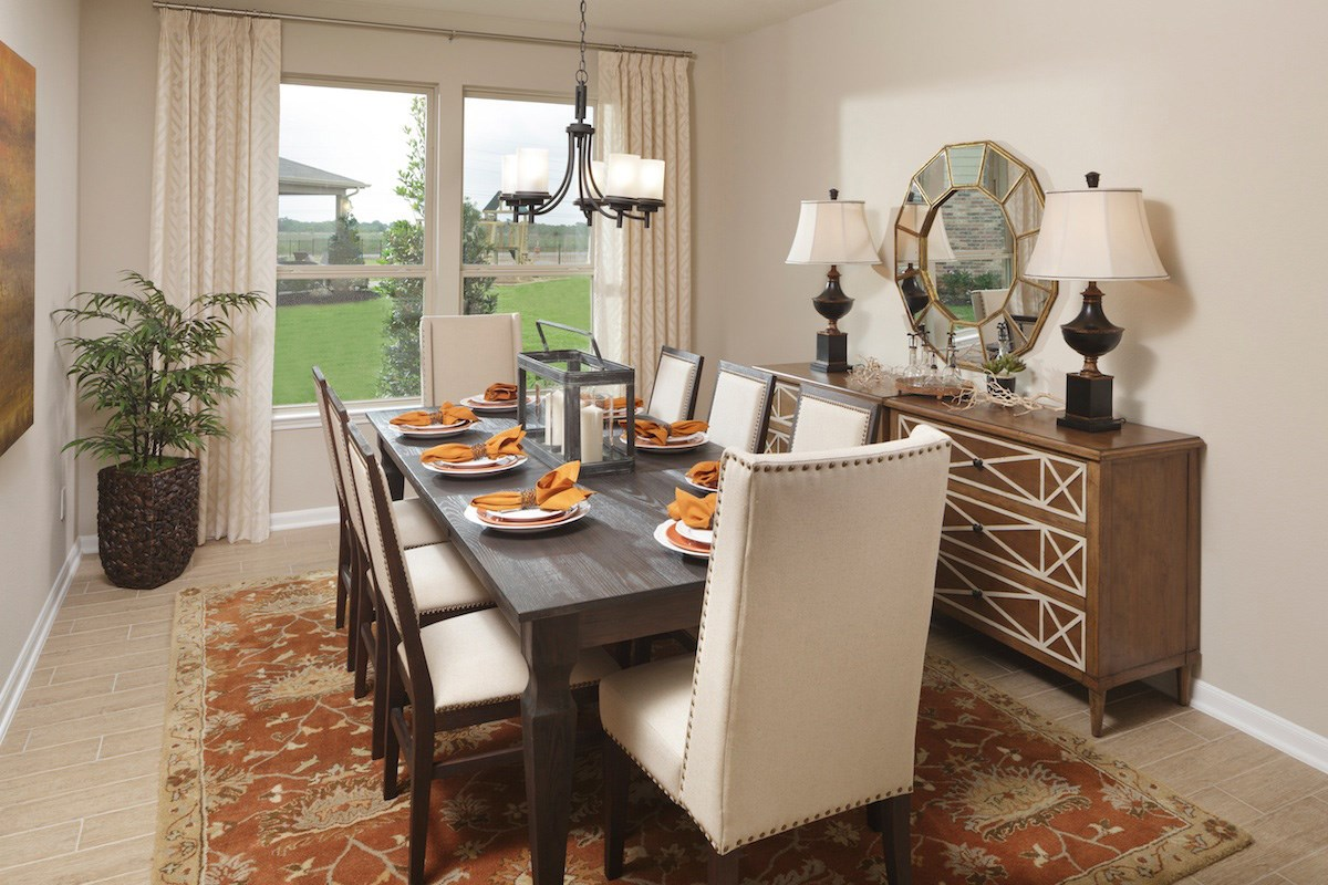 New Homes in Magnolia, TX - Cimarron Creek Preserve Plan 2314 Dining Room