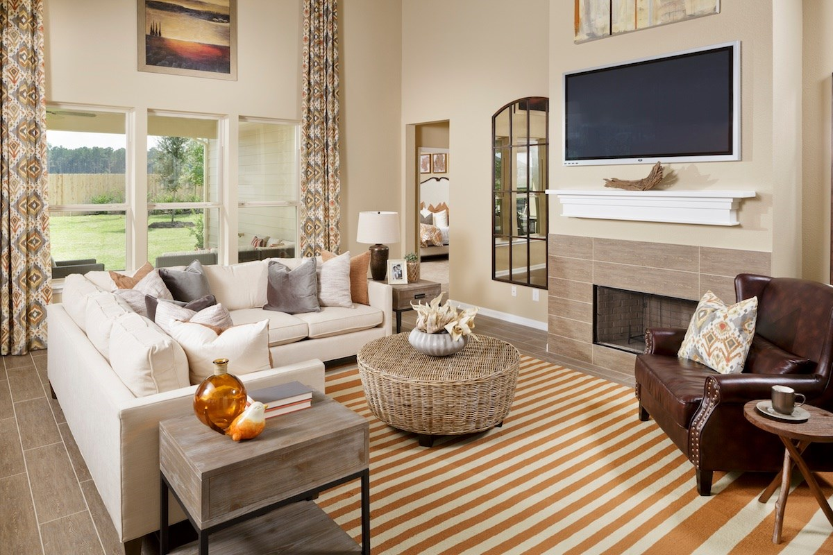 New Homes in Katy, TX - Katy Manor Preserve Plan 3028 Great Room
