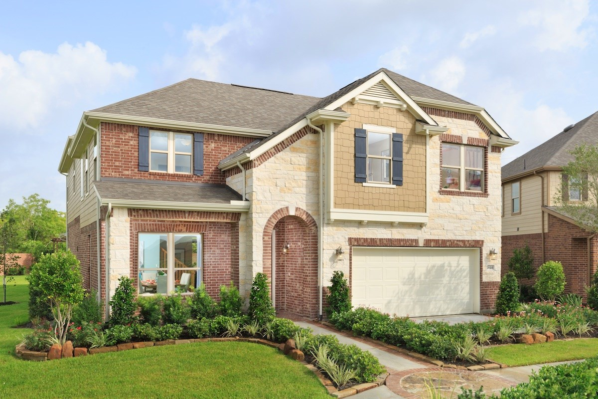 New Homes in Conroe, TX - Wedgewood Falls Preserve Plan 2715 as modeled at Shadow Grove