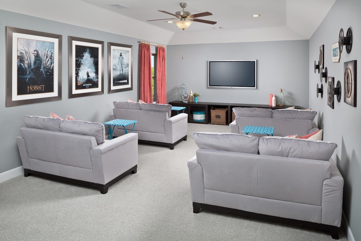 New Homes in Houston, TX - Lakewood Pines Preserve Plan 2715 Media Room