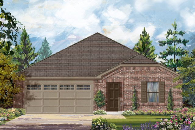 New Homes in Rosenberg, TX - Elevation B