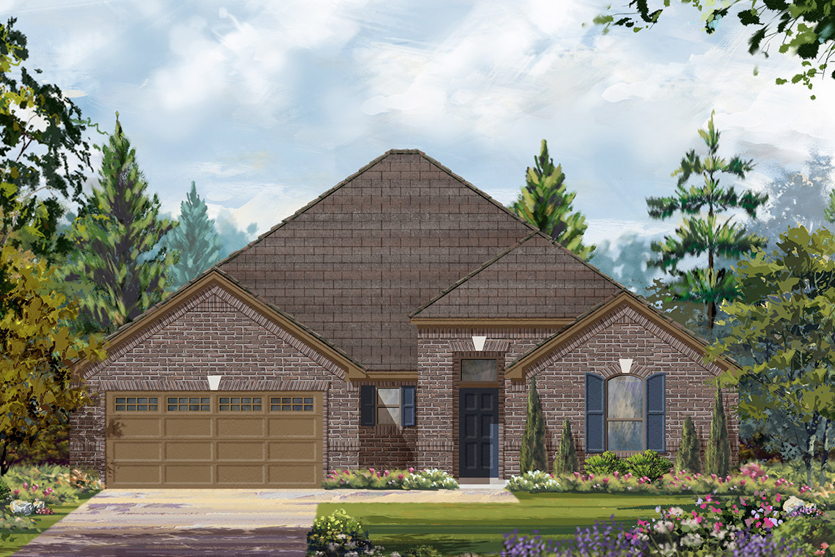 Plan 2031 new home floor plan in briscoe falls estates for Home elevation houston