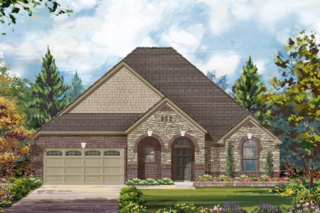 New Homes in Richmond, TX - Elevation D