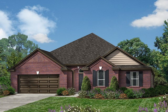 Plan 2598 for Houston house elevation
