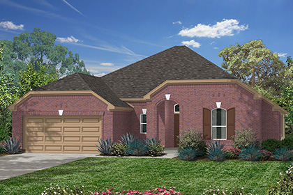 Plan 2625 at lakewood pines estates in houston tx kb home for Houston house elevation