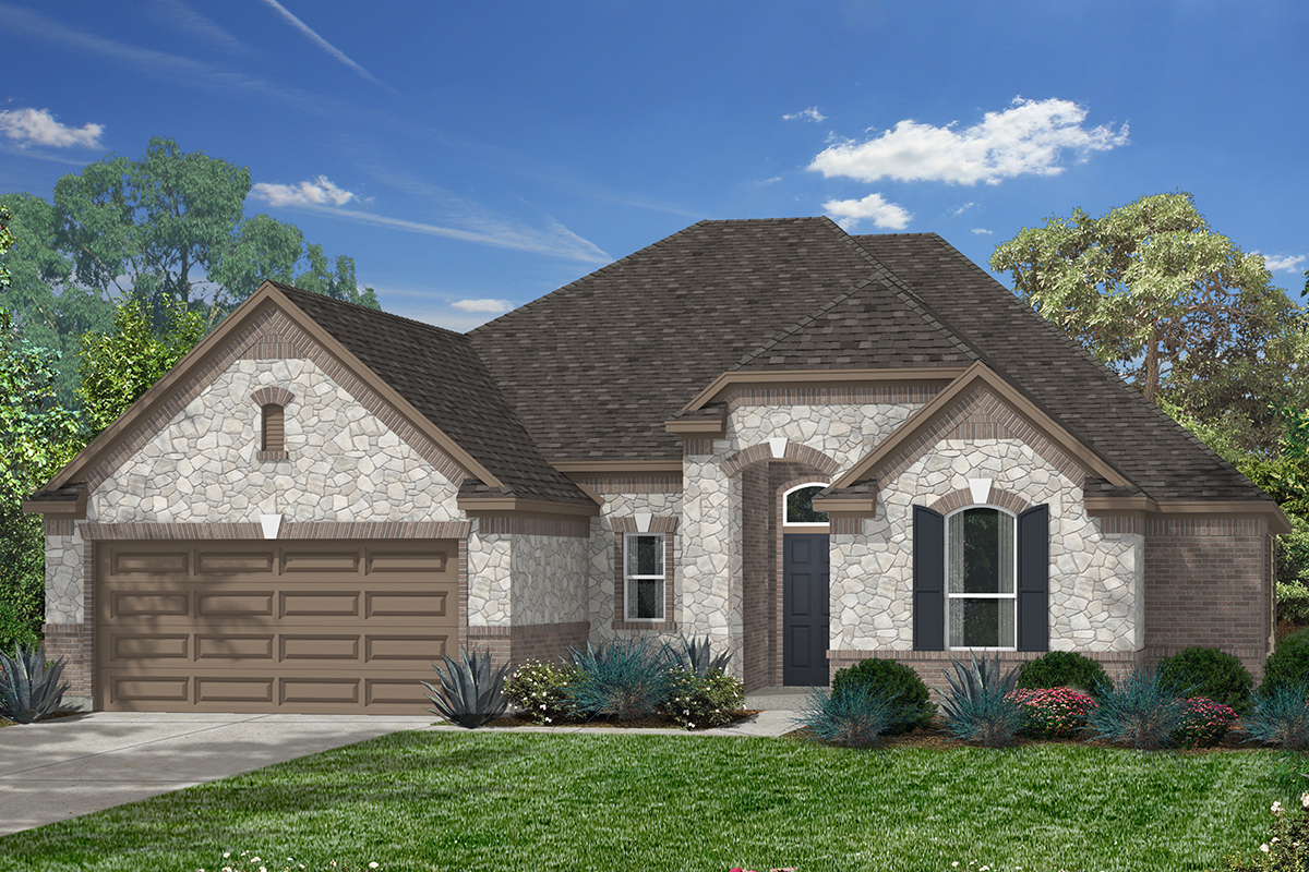 Plan 2625 for Houston house elevation